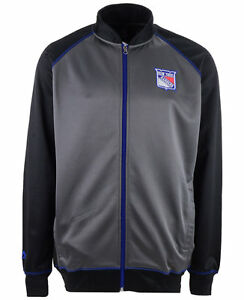 New York Rangers NHL Men's Big & Tall Full-Zip Track Jacket