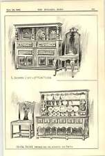 1907 Jacobi And Chest 17th-century Chair Old Oak Dresser