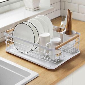 Dish Drainer Rack Kitchen Sink Basket Cutlery Draining Rack Tray Board Holder UK