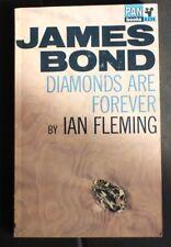 IAN FLEMING JAMES BOND 007 PANX235 VG+ DIAMONDS ARE FOREVER 19th UK PRINT