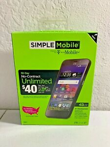 Simple Mobile No-Contract ZTE ZFive2 LTE Smartphone - NEW IN BOX