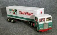 "VINTAGE TIN LITHO 1960s SAFEWAY FOOD SEMI TRUCK ALL METAL 16"" LONG MADE IN JAPAN"