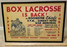 Rochester Box Lacrosse Chiefs Poster Knighthawks Griffins NLL Tickets MLL NY