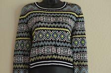 H&M DIVIDED UK Size M Ladies Lovely Black Patterned Long Sleeve Jumper