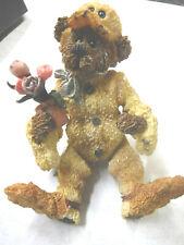 Boyds Bears & Friends Poseable Bear In Duck With Flower Bouquet M14