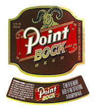 Stevens Point Brewery POINT BOCK foil & paper beer label WI 12oz WITH NECK