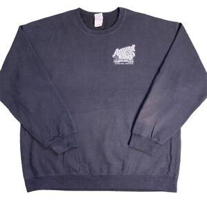 Black Vintage Gildan 'Around The Bay Road Race' Location Workwear Sweatshirt