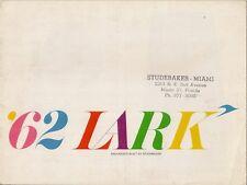 Studebaker Lark 1962 USA Market Sales Brochure Sedan Cruiser Regal Daytona