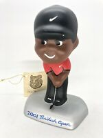 Tiger Woods British Open Catman Bobblehead. Ext Rare, Exc Cond #d 4/25 Woods