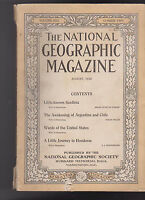 National Geographic Magazine Sardinia Honduras Chile Argentina August 1916