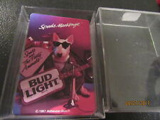 Bud Light Beer Spuds Mackenzie Dog With Guitar Playing Cards - Incomplete