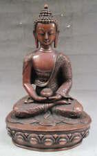 "13"" Old Tibet Tibetan Purple Bronze Amitabha Buddha Statue"