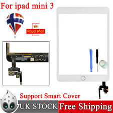 For White iPad mini 3 A1599 A1600 Repair Touch Screen Digitizer with Home Button
