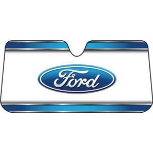Plasticolor 003735R01 Elite Accordion Windshield Sunshade With Ford Logo New USA