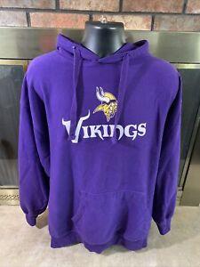 MINNESOTA VIKINGS NFL FOOTBALL Hooded Sweatshirt Mens XXL Majestic Purple Skol