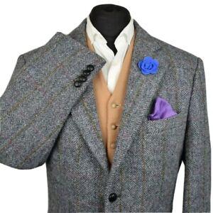 Harris Tweed Tailored Country Herringbone Blazer Jacket 48R #916 IMMACULATE
