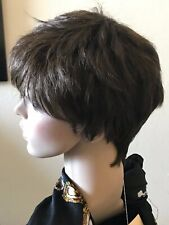Ladies short brown wig 100% Kanekalon lace TOP  NWT SALE!