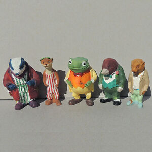5 ceramic wind in the willows figurines mole toad badger ferret otter