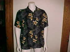 MEN'S HAWAIIAN SHIRT / XL / 100% RAYON / SHORT SLEEVE / ISLAND SHORES / PLUMERIA