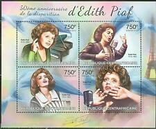 CENTRAL  AFRICA 2013 50th MEMORIAL ANNIVERSARY EDITH PIAF SHEET  MINT  NH