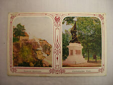 Vintage Postcard Twin View Of Lookout Mountain And Chickmauga Park Tenn. Unused