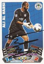 WIGAN ALI AL-HABSI SIGNED 11/12 MATCH ATTAX CARD+COA *SALE*