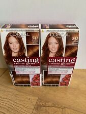 L'Oreal Casting Creme Gloss Hair Dye Golden Henna 543 Temporary Colour x 2 Boxes