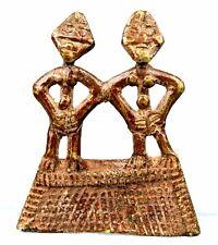 Art Africain Afrique - Pendentif Koulango Kulango en Bronze - Ethnic Jewel 7 Cms