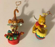 Two Grolier Disney Angel Winnie the Pooh Bear Angel Tigger Christmas Ornaments
