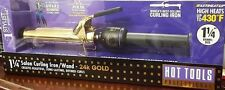 HOT TOOLS  BLACK AND GOLD PROFESSIONAL CURLING IRON MODEL #1110 (LU)