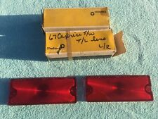 1967 Chevrolet Caprice Station Wagon NOS GUIDE Tail Light Lamp Lens Pair