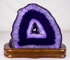 10.9Lbs Agate Geode Crystal Quartz Polished Druzy Specimen Cluster - Brazil