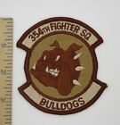 US AIR FORCE 345th FIGHTER SQUADRON BULLDOGS PATCH Desert Camo Original USAF