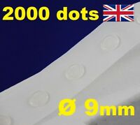 2000 Glue Dots Sticky Craft Clear Card Making Removable 9mm STRONG GLU DOTS
