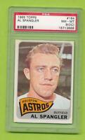 1965 Topps - Al Spangler (#164)  Houston Astros   PSA 8 (OC)  NM-MT