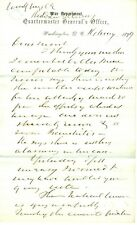Montgomery Meigs letter and drawing Smithsonian building 1879 excellent