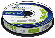 30 Mediarange Rohlinge DVD-R Mini full printable 30Min 1,4GB 4x Spindel