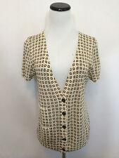 J Crew Shirt Size Medium M Sweater Silk Linen Print #0381