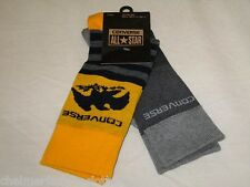 BNWT - CONVERSE All Star Mens Socks  - 2 Pairs Grey Blue Yellow  Size 6 - 8
