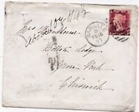 * 1877 MARGATE DUPLEX TO CHISWICK HANDSTRUCK 1d POSTAGE DUE ABOVE 1oz - KENT