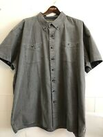 Wind River Mens Gray 100% Cotton Button Down Shirt Short Sleeves 5XL Like New