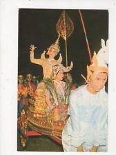 Lakorn Ram Thai Classical Dance Bangkok Thailand Old Postcard 588a