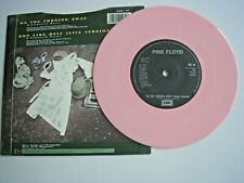 "PINK FLOYD On The Turning Away UK 7"" single PS 1987 pink vinyl ex+/ex+"