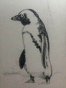 F De Backer 'Pinguin'  circa 1930 - DRAWING - ANIMALS - ZOO - ART DECO