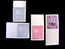 Paraguay Imperf/Perf, Mint/Nh/F, #275 (2), 285 & O98, 1927