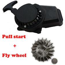 Black Easy Alloy Pull Start + Flywheel 43 47cc 49cc Mini ATV QUAD Bike Dirt Pock