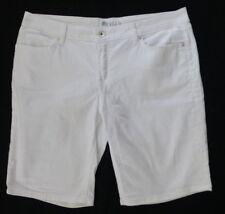 Stylus White Denim Bermuda Shorts Women's Size 16/33