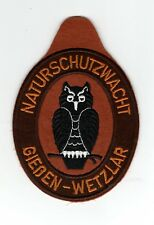 Aufnäher Patch Naturschutzwacht Gießen - Wetzlar Naturschutz Motiv Eule