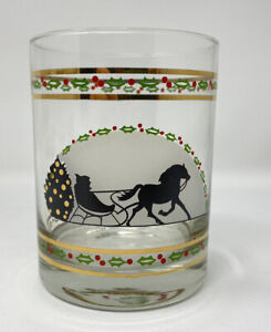 Vintage Luminarc Holiday Style Double Rock Glasses 14 oz. in original box Tree