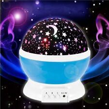Night Lighting Lamp Rotating Cosmos Star Sky Moon Projector, Children Kids Gift